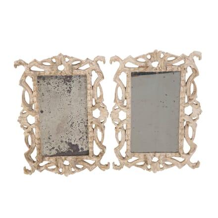 Pair of Italian Carved Wood Mirrors MI1358722