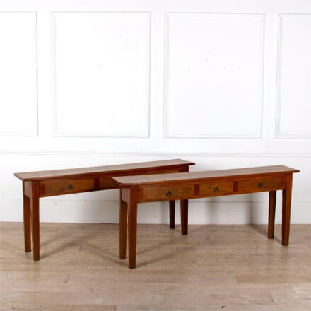Pair of Cherrywood Tables TS527262