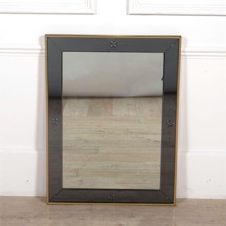 Italian Cushion Mirror in Brass Frame MI3061911