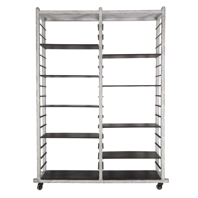 Contemporary Bakers Rack on Wheels OF357180