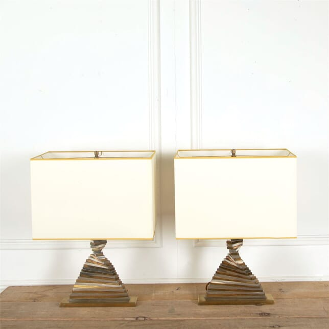Pair of Brass and Chrome Lamps LT307335