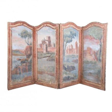 18th Century Painted Canvas Screen DA021930
