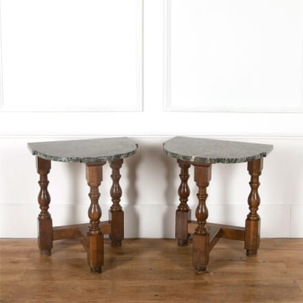 19th Century Pair of Demilune Pier Tables CO037443