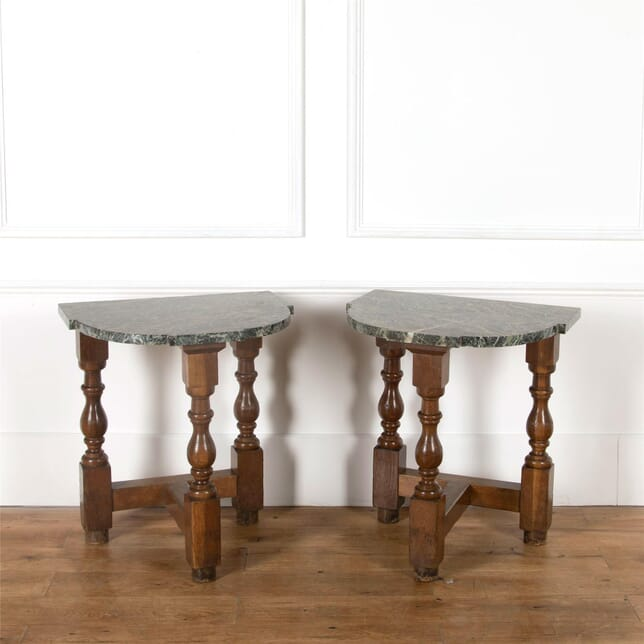 19th Century Pair of Demilune Pier Tables CO037443