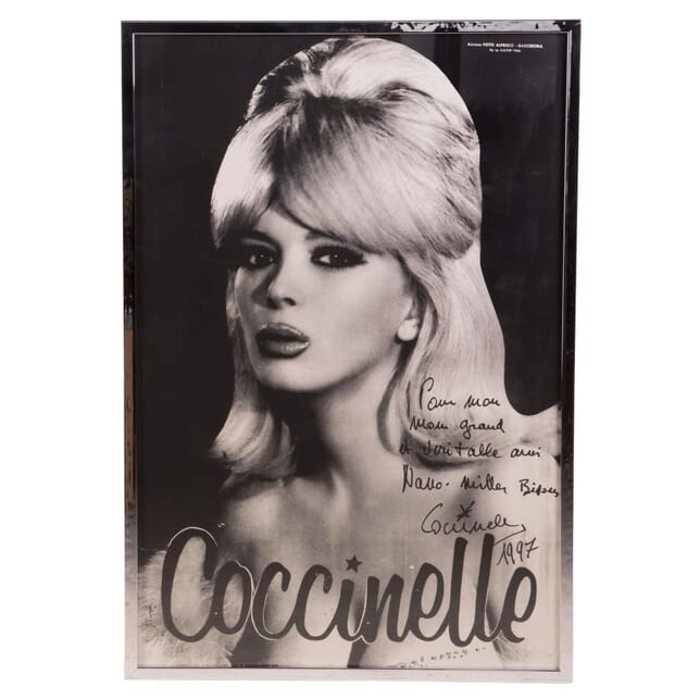 Coccinelle Signed Poster WD297364