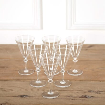 Baccarat Etched Crystal Wine Or Champagne Glasses DA587344
