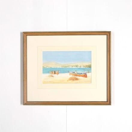 Beach at Hammamet Tunisia Grenville Cottingham RBA RSMA WD287583