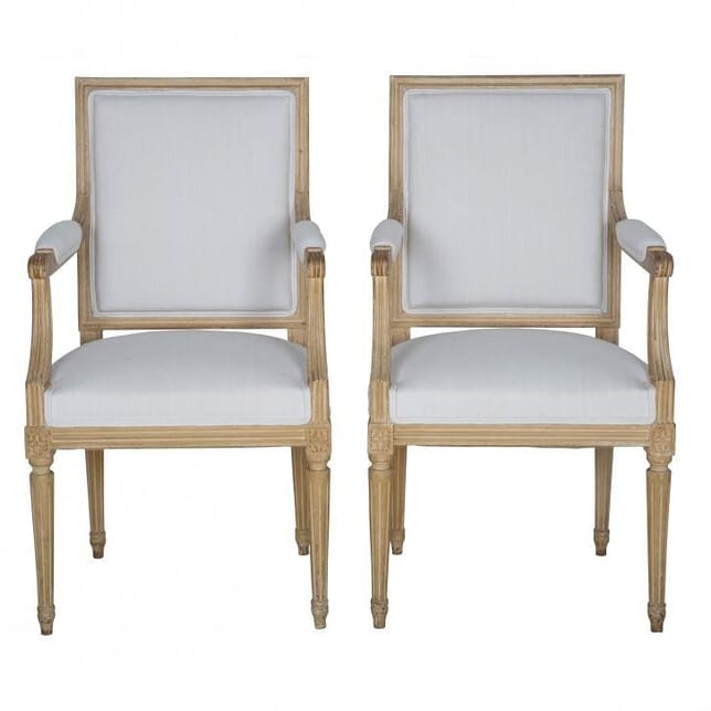 Pair of Painted French Fauteuils CH202883
