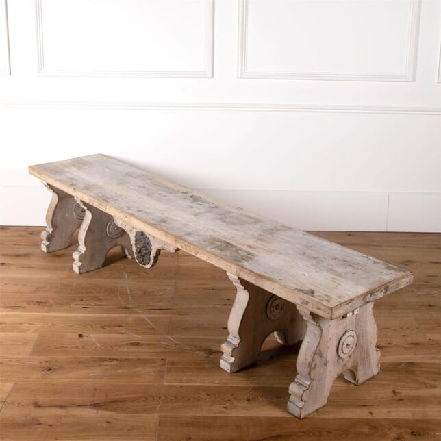 Italian Walnut Bench Circa 1880 SB3661313