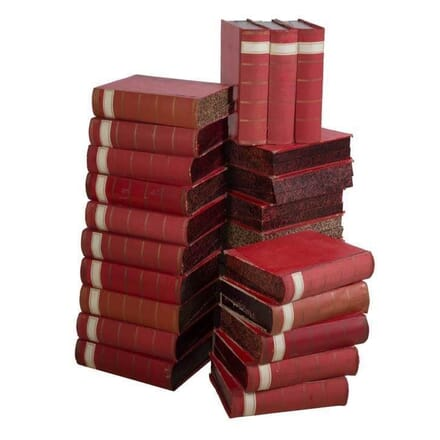 Red 19th Century Italian Lawyers Book Files DA449767