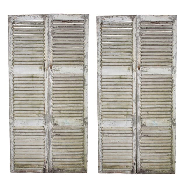 Pair Of French Painted Shutters DA4512154