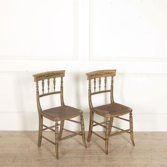 Pair Of Regency Original Painted Side Chairs CH097257
