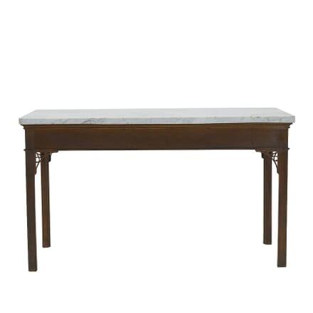 18th Century English George III Oak Console Table CO067415