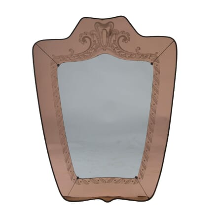Large Brass Framed Mirror MI3054624