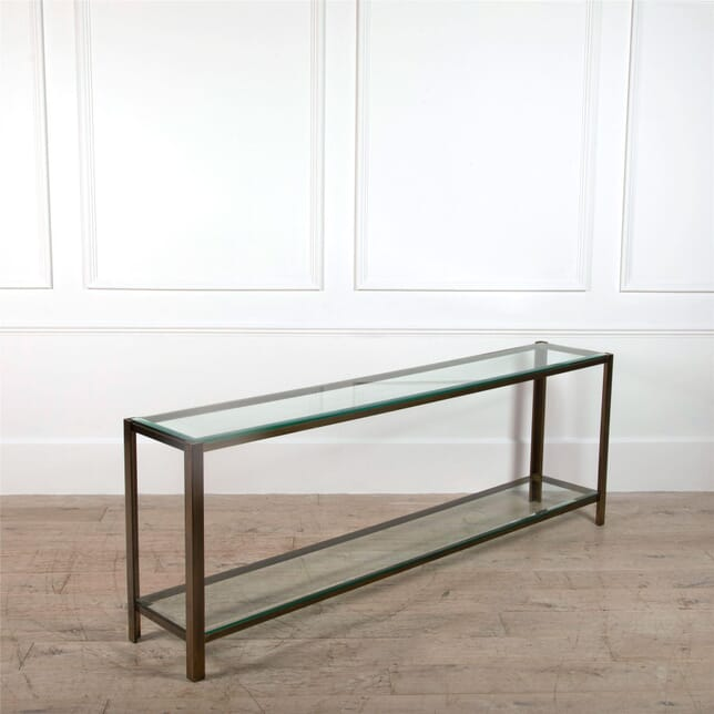 Very Long Console in Patinated Brass CO3062000