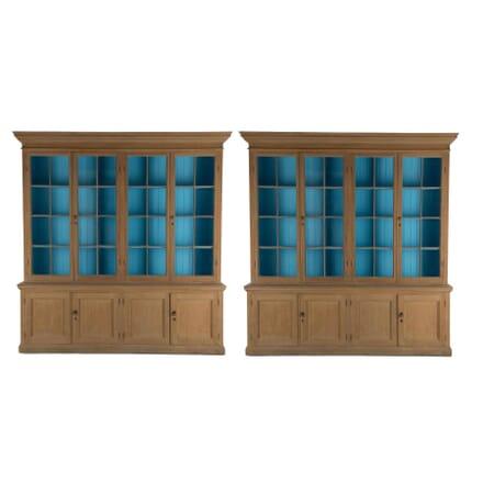 Pair of English Oak Bookcases BK237309