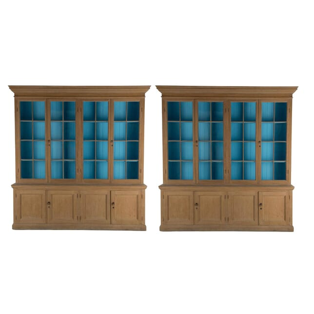 Pair of English Oak Bookcases BK237309