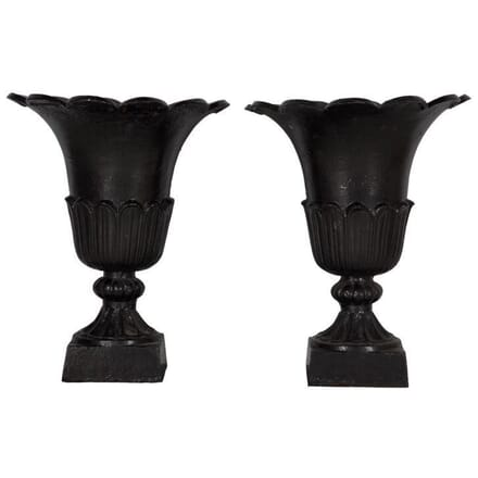 Pair of  Victorian Cast Iron Urns GA994483