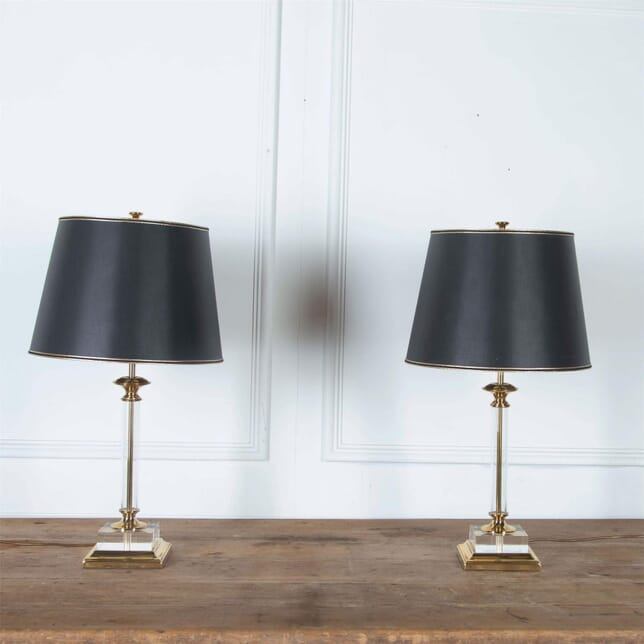 Lucite and Brass Lamps LT7361130