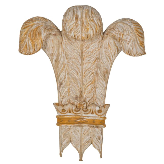 Carved Prince of Wales Feathers WD995614