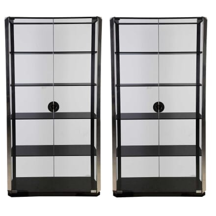 Pair of Mario Sabot Glass Cabinets BK3012188