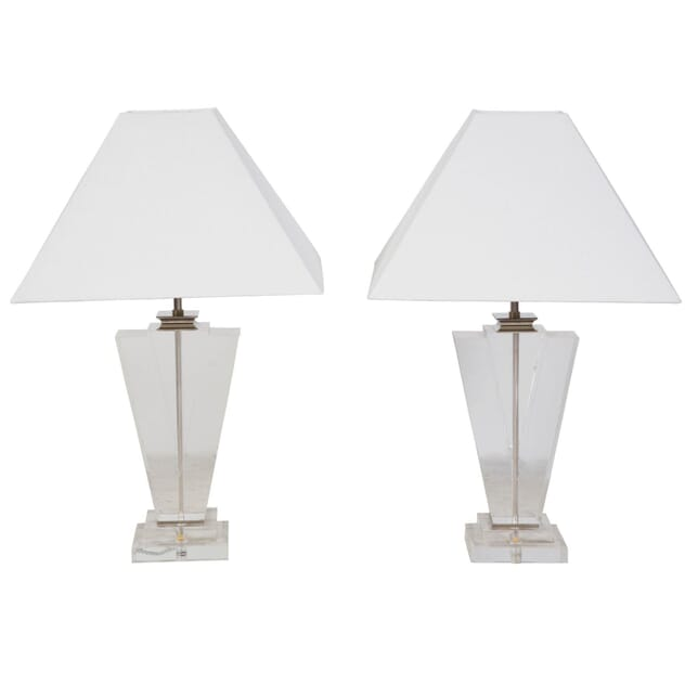 Pair of Lucite Table Lamps LT4010855