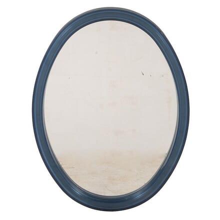 1970s Oval Blue Acrylic Mirror MI5760113