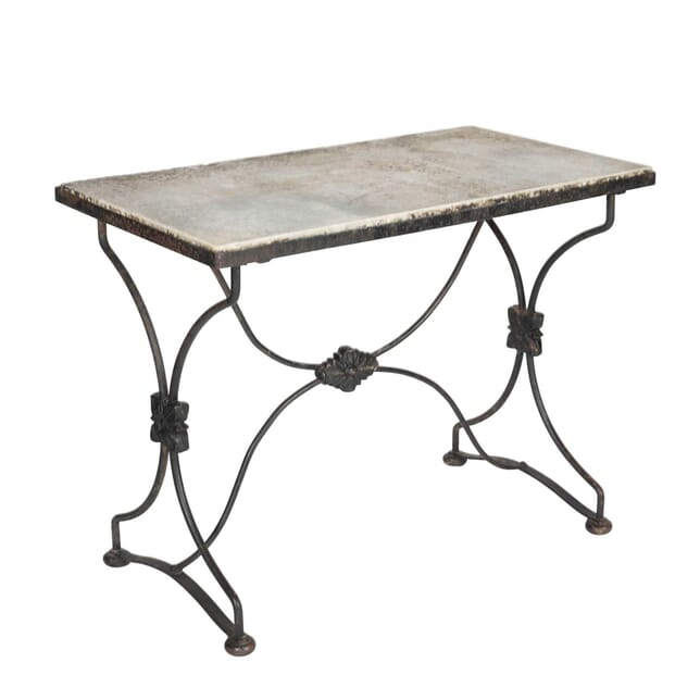 19th Century Marble Topped Garden Table TC5113175