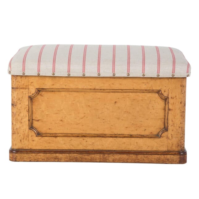 Burr Maple Wood Ottoman OF209432