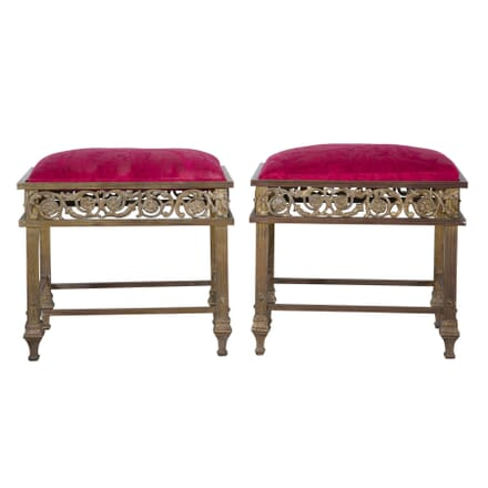 Pair of Brass Stools ST5258207