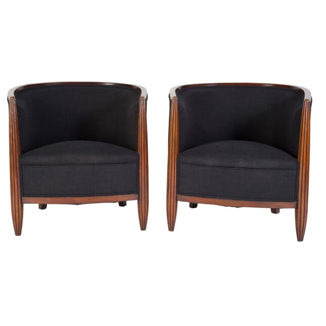 Pair of Art Deco Tub Chairs CH4858603