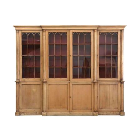 Breakfront Pine Bookcase BK1255796