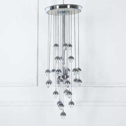Chrome and Glass Ceiling Light by Sciolari LC3061117