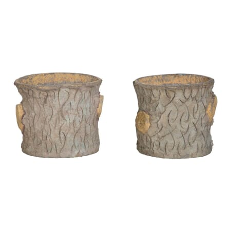 Trompe LOeil Faux Wood Planters GA1556492