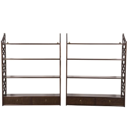 Pair of Chippendale Style Wall Shelves BK4360240