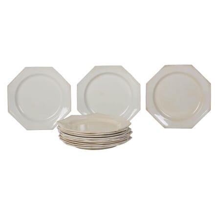 19th Century Hexagonal Creamware Plates DA0110319