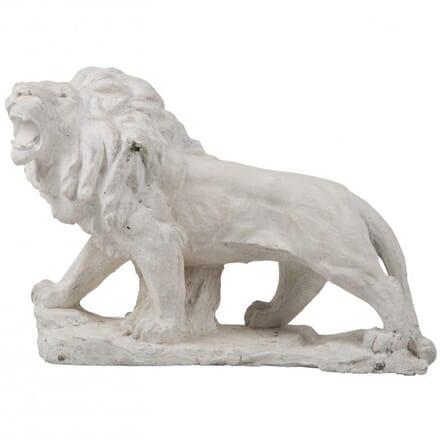 19th Century Plaster Lion DA022040