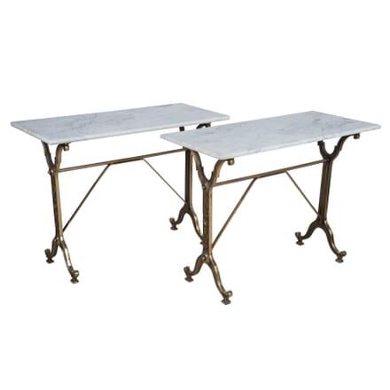 Pair of Brassed Bistro Tables GA1554884