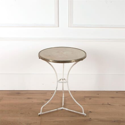 French Stone Topped Garden Gueridon Bistro Table GA2862065