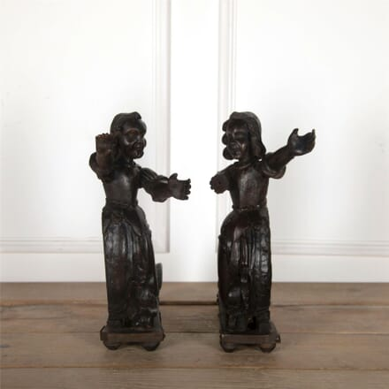 Pair of 17th Century Oak Figures DA5561759