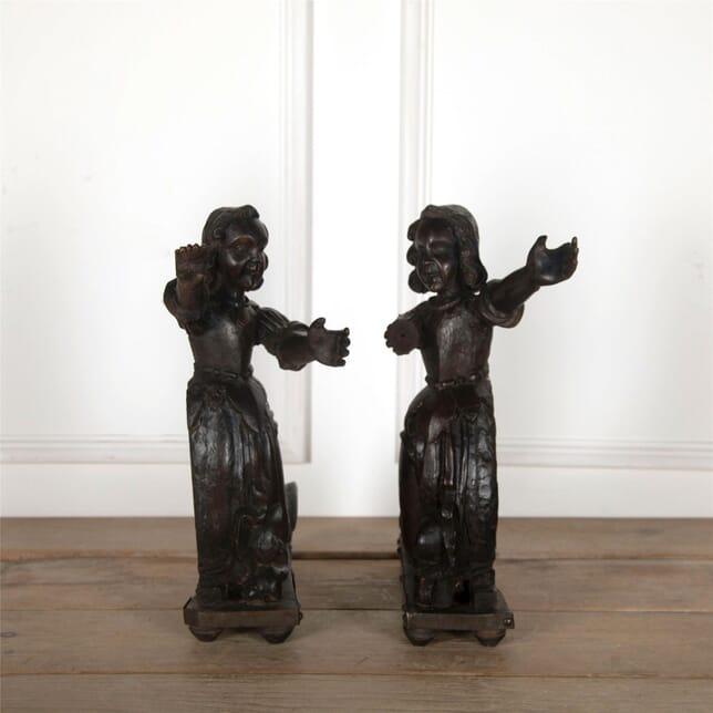 Pair of 17th Century Oak Figures DA5561759