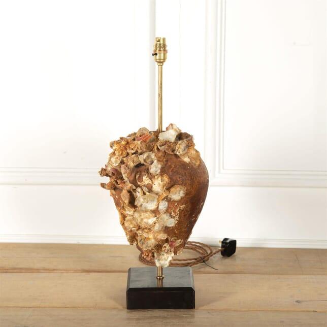Encrusted Terracotta Octopus Pot Lamp LT217109