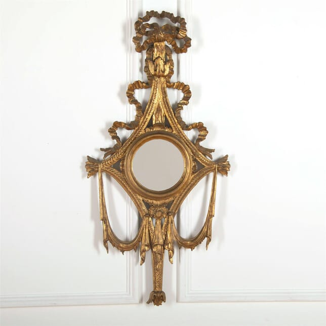 Carved and gilded wood decorative wall mirror MI727541