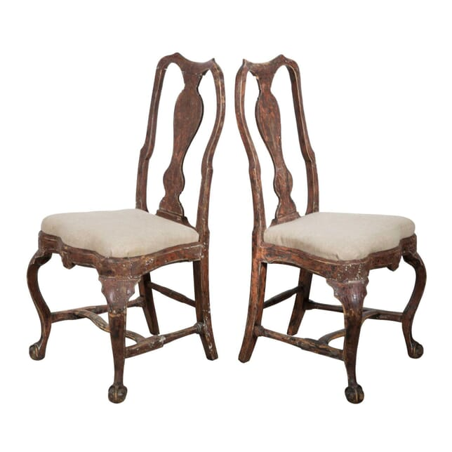 Pair of 18th Century Painted Swedish Chairs CH9058200