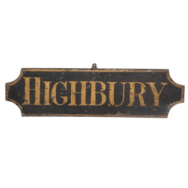 Highbury Sign DA2012375