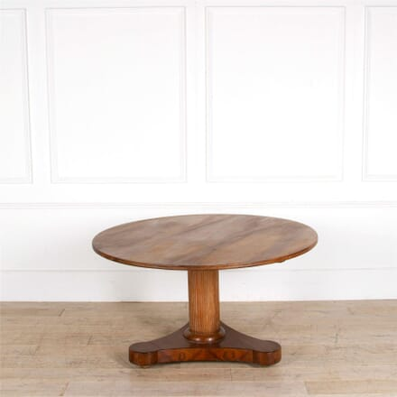 English 19th Century Walnut Pedestal Table TC287306