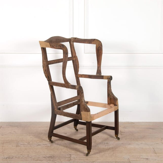 Large George III Mahogany Wing Armchair CH0962375