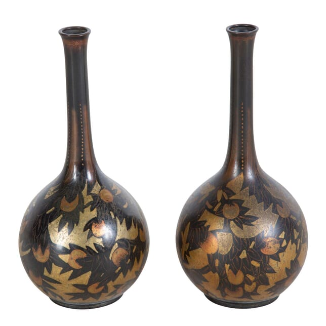 Pair of Small Metal Vases DA067706