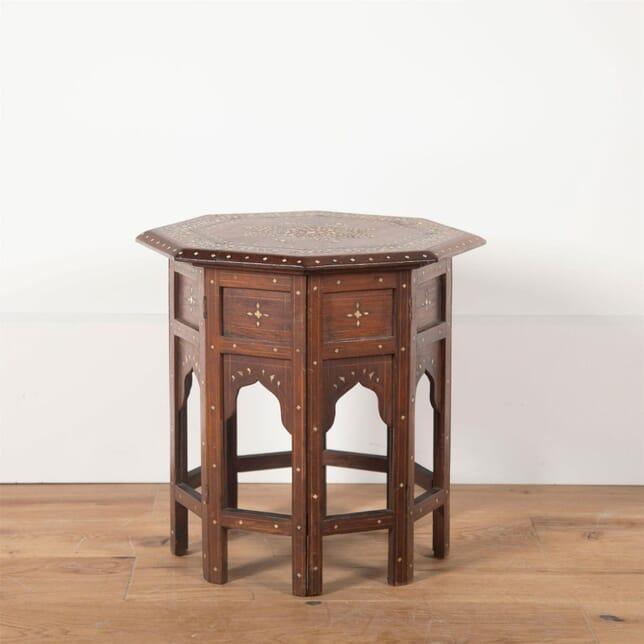 19th Century Indian Bone and Ebony Inlaid Hoshiarpur Table TC2361434