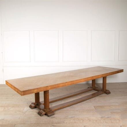 Large Arts & Crafts English Oak Refectory Dining Table TD057639
